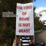 Striscione Totti The King of Rome PR