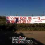 Striscione tifosi Trigoria 1 marzo 2012