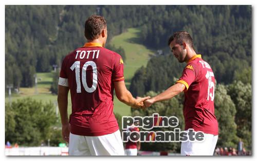 Totti Pjanic amichevole Roma PR