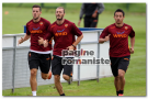 Allenamenti Roma – Taddei e Balzaretti in gruppo. Assenti Stekelenburg, Dodò, Castan, Osvaldo e Totti