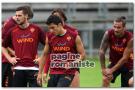 Allenamenti Roma – Esercitazioni sulla fase difensiva. Osvaldo e Castan in campo, assenti Stekelenburg e De Rossi. Sabatini a colloquio con la squadra