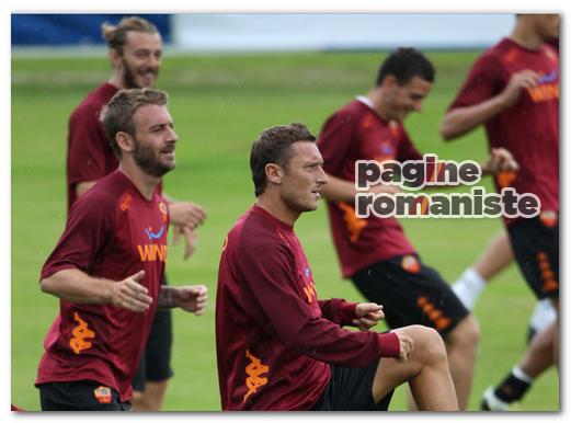 Tott-De Rossi allenamento P.R.