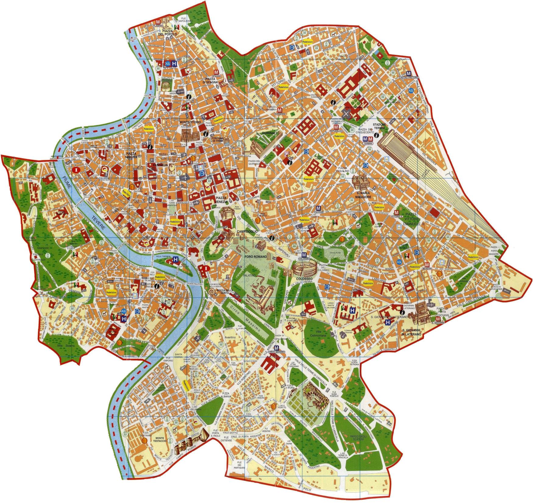 Cartina Roma Turistica.Mappa Roma Junglekey It Immagini