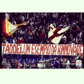 Roma-milan_striscione_rodrigo_taddei_rinnovo