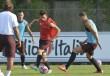 Allenamento Roma, buone notizie per Spalletti: Dzeko, Florenzi e Digne lavorano in gruppo. Atletica e tattica per la squadra