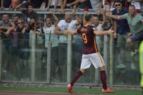 roma-juve- dzeko gol esultanza
