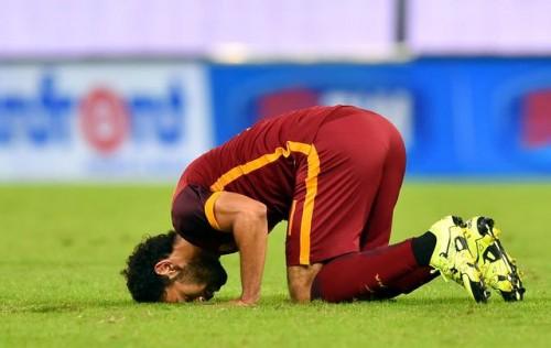 roma-sampdoria- salah gol esultanza