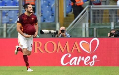 roma-carpi-manolas gol esultanza