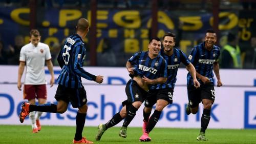 inter-roma-medel dambrosio miranda guarin gol esultanza