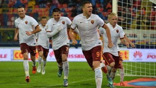 01-bologna-roma-dzeko nainggolan iturbe torosidis gol esultanza