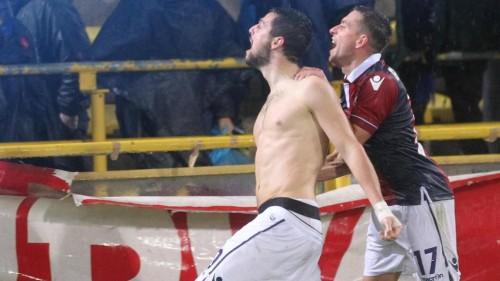 bologna-roma-destro gol esultanza