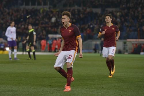 roma_fiorentina-el shaarawy perotti gol esultanza0