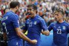 Italia-Spagna 2-0. De Rossi parte titolare ma esce al 54′. Florenzi lascia il campo al 84′. Solo panchina per El Shaarawy. Chiellini e Pellè stendono la Roja. Ora la Germania