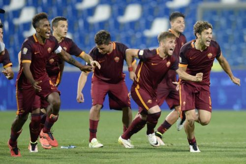 roma-juve-primavera_bordin de santis capradossi gol esultanza squadra