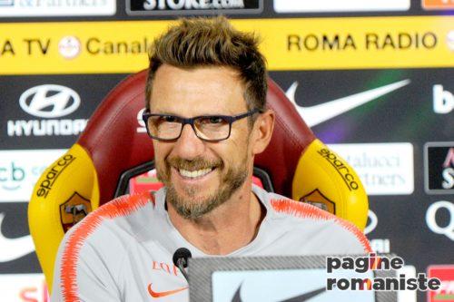 Di Francesco: Roma, out Perotti e Nzonzi. Mercato? Soddisfatto